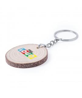 Porte clés en bois personnalisable, goodies eco friendly