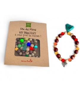 bracelet perles personnalisé pour IBIS - Goodies enfant manuel - kit de création publicitaire pour créer des bracelets
