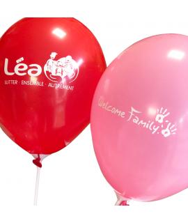 ballon de baudruche Association Léa et Welcome Family