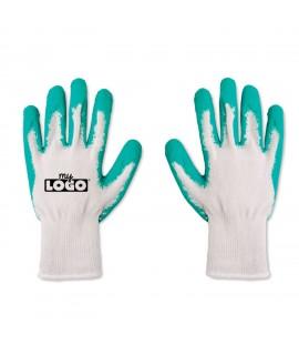Gants de jardin personnalisés vert et blanc - Goodies de jardin - Objet publicitaire de protection