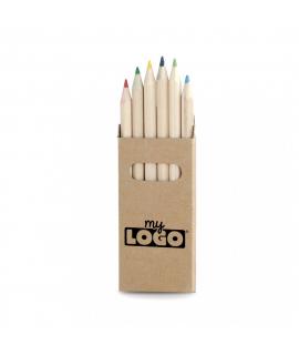 Boîte de crayons en bois naturel, cadeau promotionnel pour les enfants