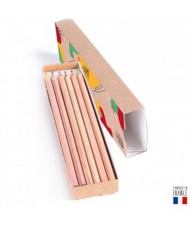 Fourreau 12 crayons personnalisé - Objet publicitaire coloriage - Goodies enfants éco responsable et made in france