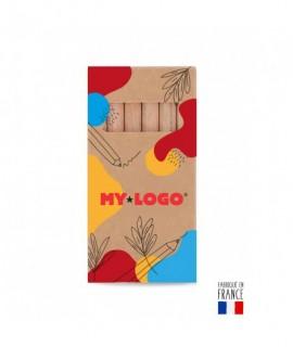 Boîte de 6 crayons de couleurs 8.7cm