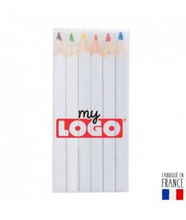 Set 6 crayons de couleur Puzzle 8.7cm