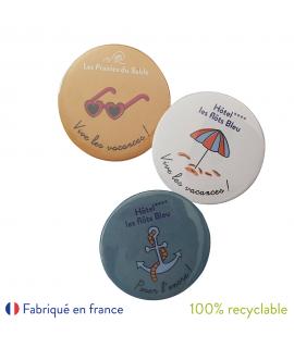 Hotel Les Flots Bleu badges custom