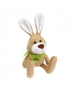 Personalised hare plush with logoter scarf - Rabbit advertising plush with bandana
