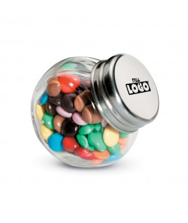 Advertising candy with multicolored chocolates - Children's advertising gift