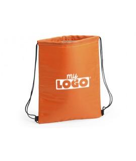 Custom orange cooler backpack - Advertising item for the summer season