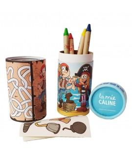 Coloriage avec crayons personnalisé - Tube à colorier personnalisable - Version pour La Mie Câline - Colouring tube