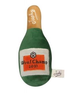 Personalised dog plush for Japhy - Dog champagne bottle-shaped plush - Goodies dog
