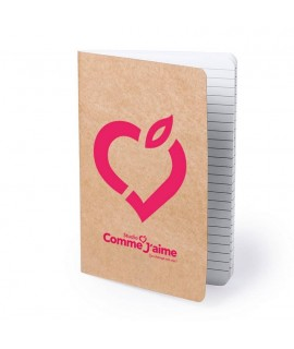 Eco-friendly custom notebook made from recyclable materials - Goodies eco responsible and useful
