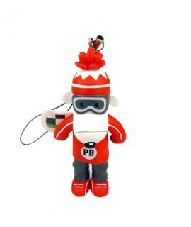 figurine poivre blanc rouge logotée - Goodies figurine publicitaire