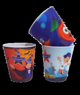 Gobelet lenticulaire personnalisé - Goodies enfant - verre en plastique personnalisé pour enfant