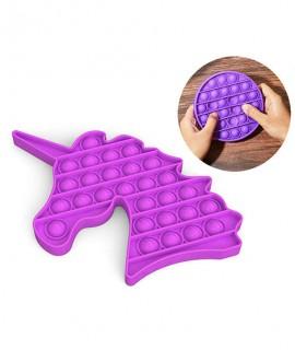 fidget toy publicitaire licorne - pop it anti stress personnalisé licorne - anti stress pop rose