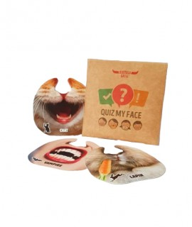 Quiz My Face de poche version 12 masques pour Buffalo Grill. Jeu de déduction et de réflexion personnalisable.