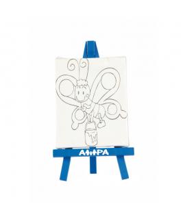 Chevalet en bois et sa toile, un goodies publicitaire pour les enfants
