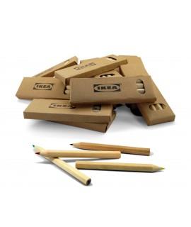 Boîte kraft personnalisée de crayons de couleur pour Ikea - boîte kraft publicitaire avec crayons - prime enfant classique