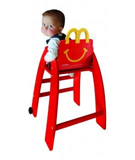 Chaise haute bébé création personnalisée pour les restaurants Mcdonald's