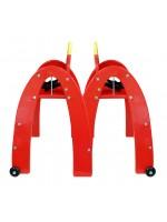 La chaise Mcdo Happy Baby Chair rouge personnalisée par l'agence Marketing Création
