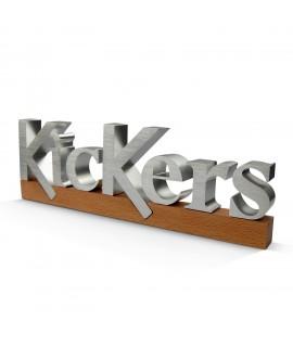 Bloc logo en ALU pour la marque Kickers