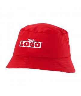 Chapeau rouge à personnaliser pour enfants - Bob enfant personnalisé de couleur rouge