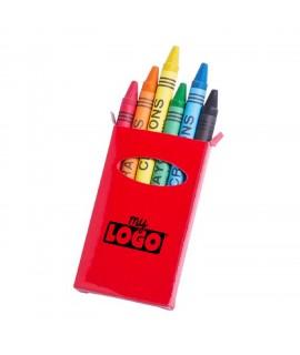 Boîte de crayons cires, goodies promotionnels pour les enfants