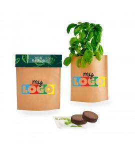 Plante pop-up en sachet, goodies promotionnel éco
