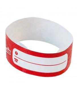 Bracelet d'identification enfants rouge - bracelet enfant inscriptible personnalisable résistant à l'eau