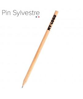 Crayon papier en pin sylvestre, objet publicitaire made in france