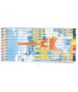 Set de 12 crayons puzzle, objet publicitaire made in France