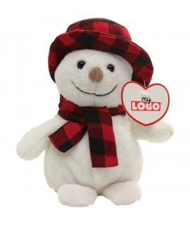 Bonhomme de neige en peluche, goodies enfants pour l'hiver